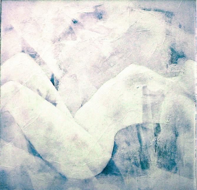 transparence - Painting,  50x50 cm ©2006 by Andre bourdin -