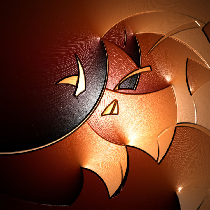 Spiral'or. - Digital Arts, ©2020 by Thierry Boussion -                                                                                                                                                                          Abstract, abstract-570, Abstract Art