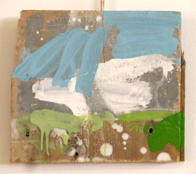 722-PP-depaysage-fragment - Painting,  22x19 cm ©2012 by Richard Brachais -                            Contemporary painting, du paysage au dépaysage...