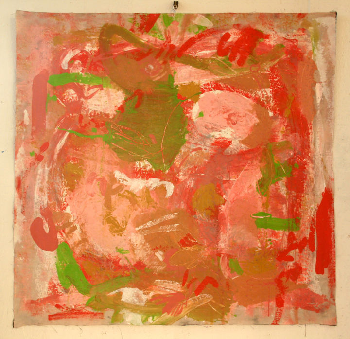 803-pi-106x102-2015.jpg - Painting,  40.2x41.7 in, ©2015 by Richard Brachais -                                                                                                          figuration, abstraction