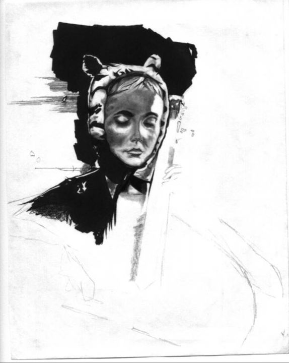 """Drawing titled """"isobelle"""" by Bradley Mckay, Original Art, Other"""