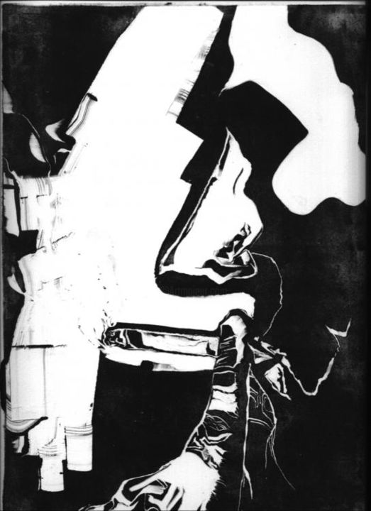 """Drawing titled """"(b&w)untitled"""" by Bradley Mckay, Original Art, Other"""