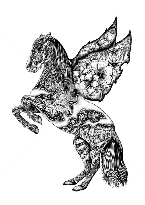 horse jpg Drawing by brainesstein | Artmajeur