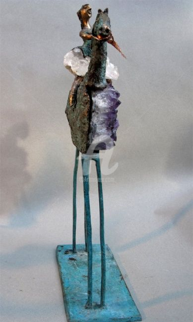 cavaliere amethyste (face) - Sculpture ©2009 by Elisabeth Brainos -