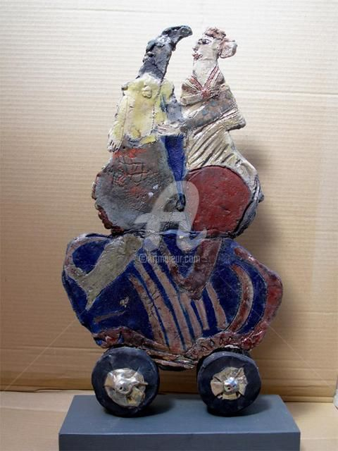 couple3 side2 - Sculpture, ©2010 by Elisabeth Brainos -