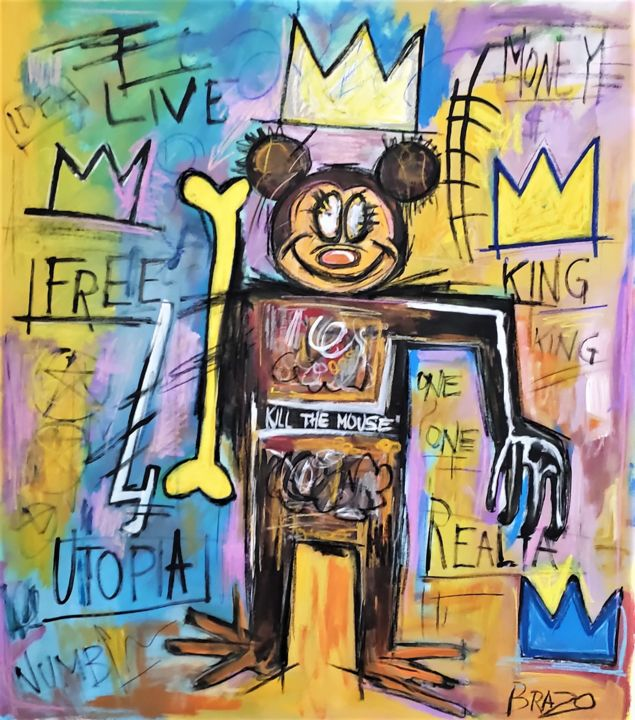 """Painting titled """"Kill the mouse"""" by Brazo, Original Art, Acrylic"""
