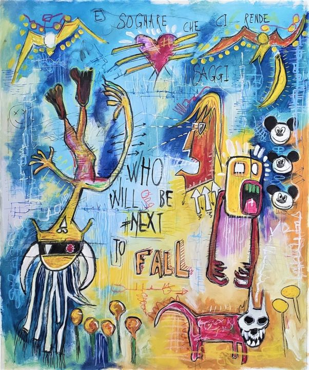 """Painting titled """"Falling down"""" by Brazo, Original Art, Acrylic"""