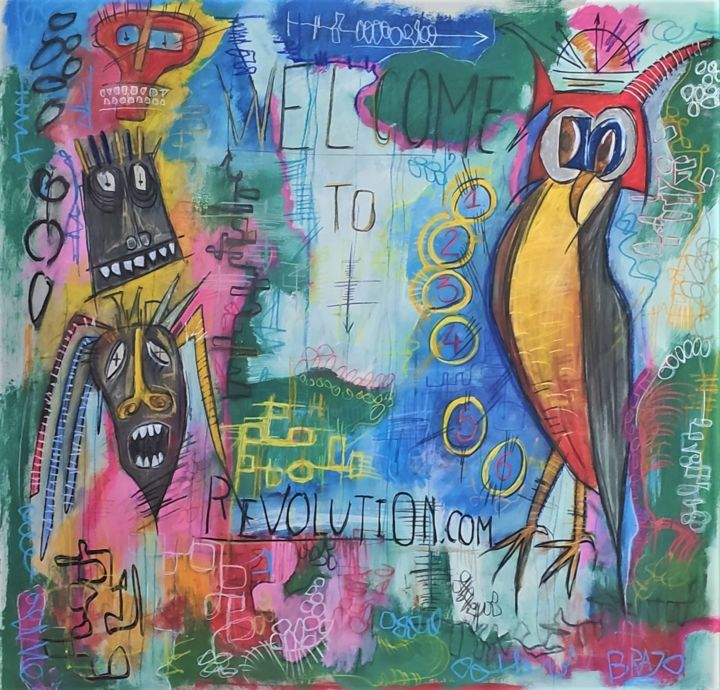 """Painting titled """"Welcome to revoluti…"""" by Brazo, Original Art, Acrylic"""