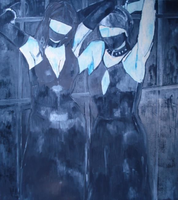 """Painting titled """"Submission"""" by Breda Chuk, Original Art,"""