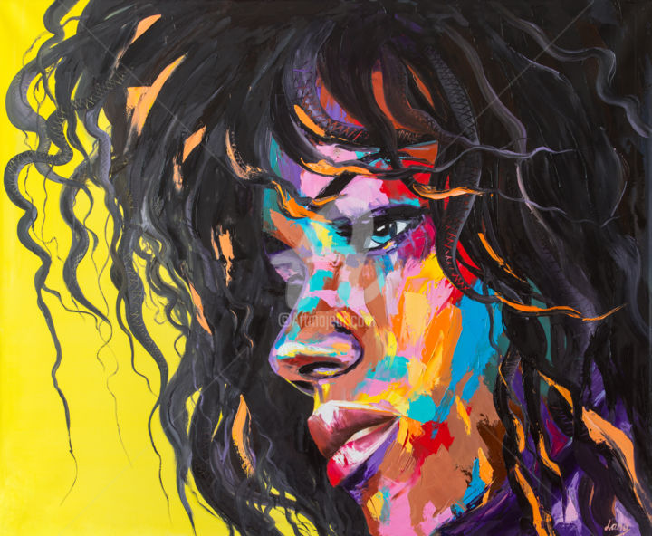 Abstract Painting Oil Portrait Contemporary