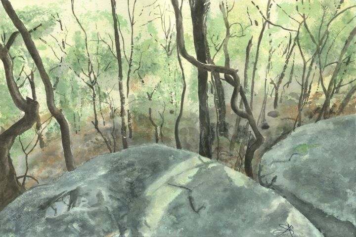 """Painting titled """"Toohey Tangle"""" by Brett Buckley, Original Art, Watercolor"""