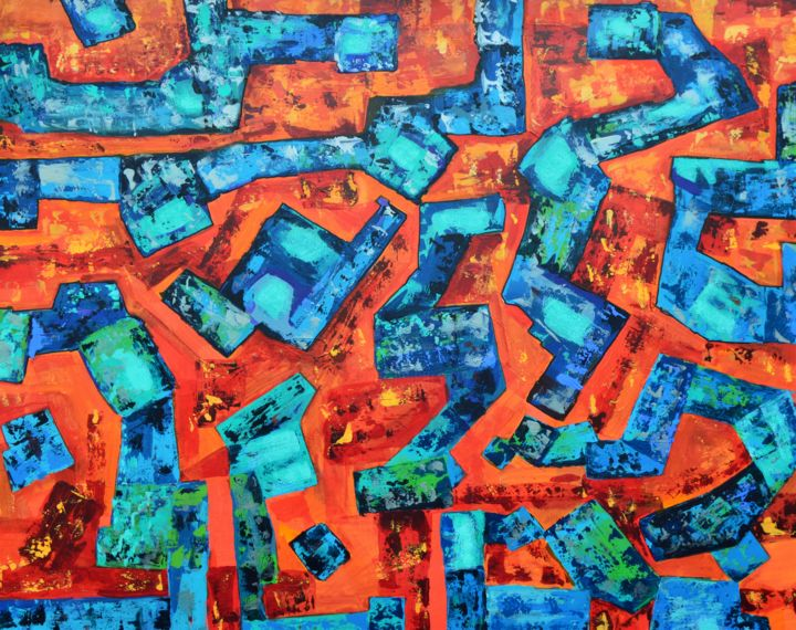 Color Painting, acrylic, abstract, artwork by Brian Lockett