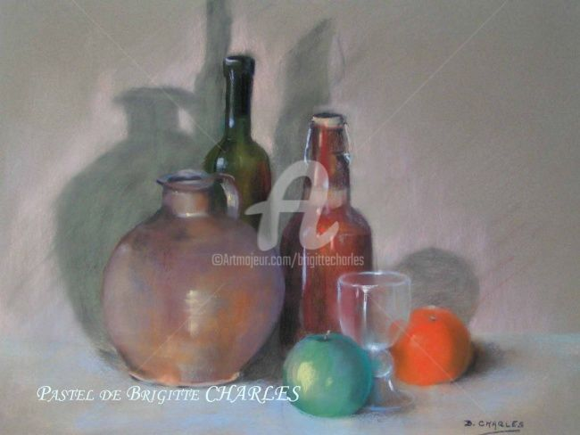 COULEURS ACIDULEES - Painting,  70x60 cm ©2006 by Brigitte CHARLES -                            Realism, nature morte