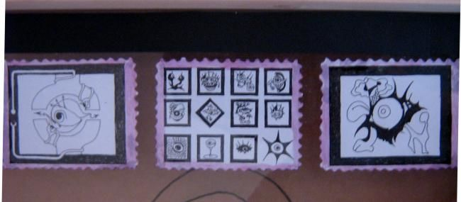 """Drawing titled """"stamps of VIP knot"""" by Brlio, Original Art,"""