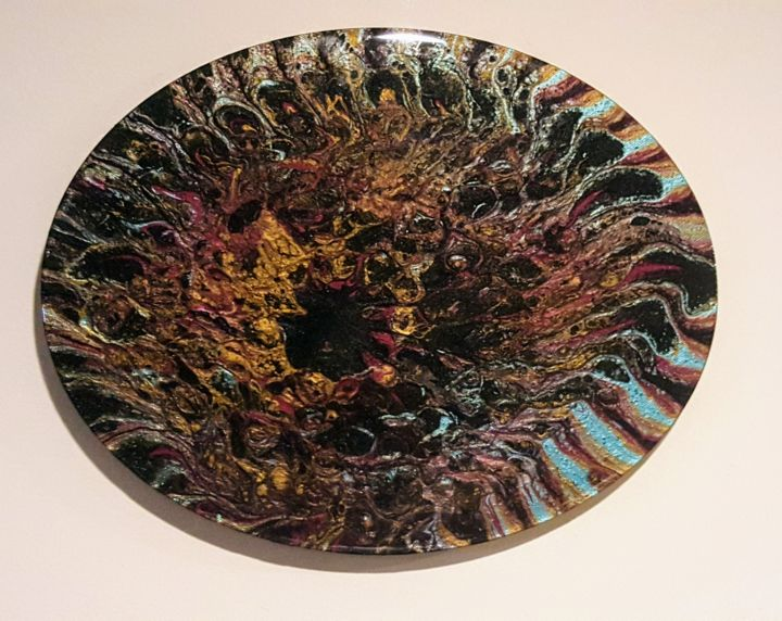 """Painting titled """"ENIGMA"""" by Joanna Armstrong (JoJo), Original Art, Pigments"""
