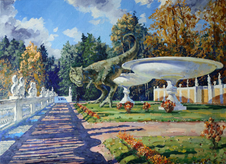 """Painting titled """"Sunny day at the Ar…"""" by Сергей Крупкин, Original Art, Oil"""