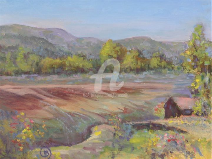 Adirondack farm - ©  Adirondacks, farm, mountains, spring, brossitto, B.Rossitto paintings Online Artworks