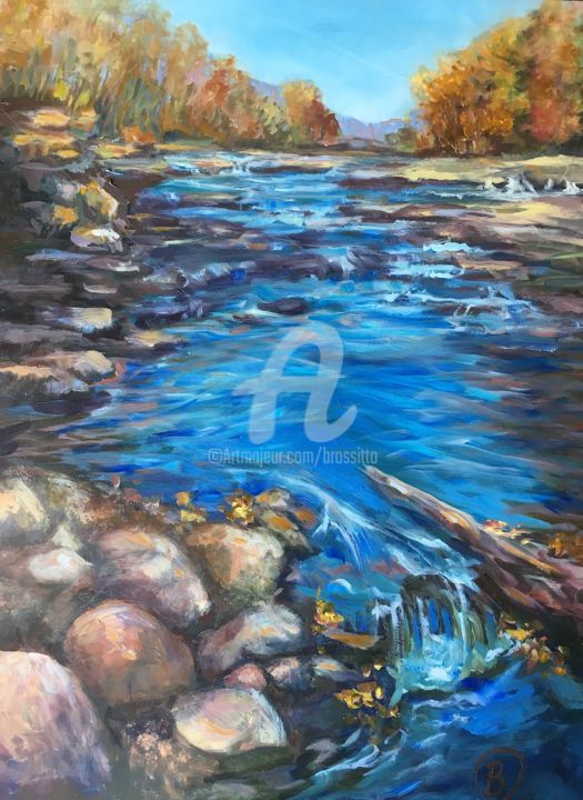 Salmon River Autumn - © 2017 blue, nature, autumn, landscape Online Artworks