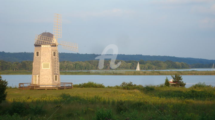 """Photography titled """"Windmill in Essex"""" by B.Rossitto, Original Art,"""