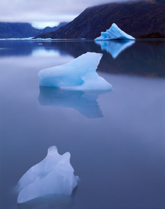 """Photography titled """"A Trio of Icebergs,…"""" by Bruce Herman, Original Art, Manipulated Photography"""