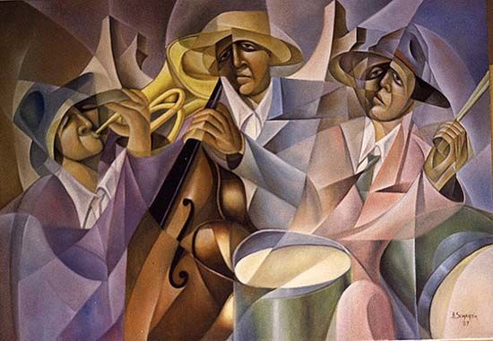 Jazz band - Painting ©1989 by Bruno Sciaraffia -