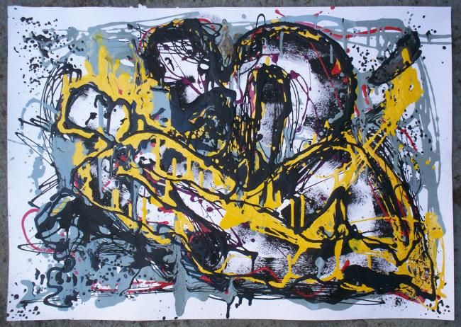 """Painting titled """"S/t"""" by Bruno Melo, Original Art,"""