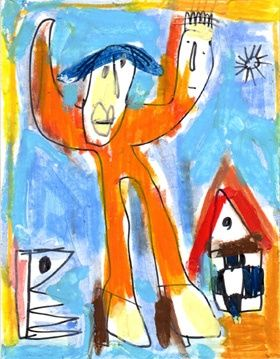 Pas fini - Painting,  4.3x3.5 in, ©2006 by Bruno Salaün -