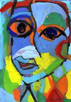 Ailleurs - Painting,  9.8x6.7 in, ©2006 by Bruno Salaün -