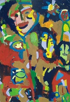 Libre ! - Painting,  36.6x26 in, ©2006 by Bruno Salaün -