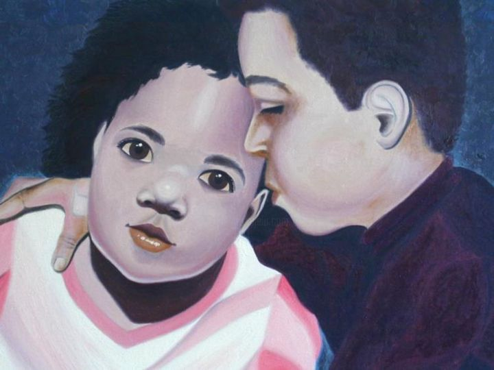 Children - Painting,  20x24 in, ©1992 by Alec Yates -