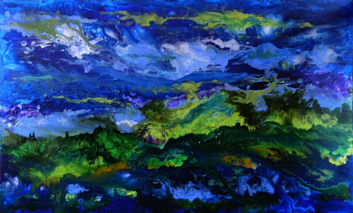 """Painting titled """"The nature of nature"""" by Barbara Tabachnick, Original Art, Acrylic"""