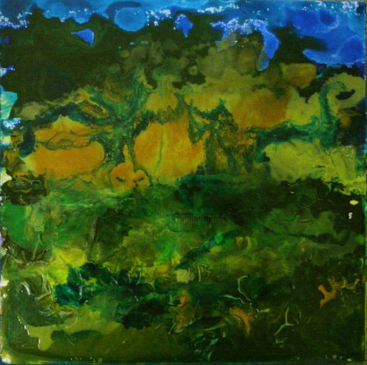 """Painting titled """"Dark forest"""" by Barbara Tabachnick, Original Art, Acrylic"""