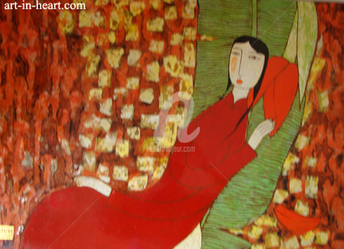 """Painting titled """"Original lacquer pa…"""" by Bui Trong Du, Original Art, Lacquer"""