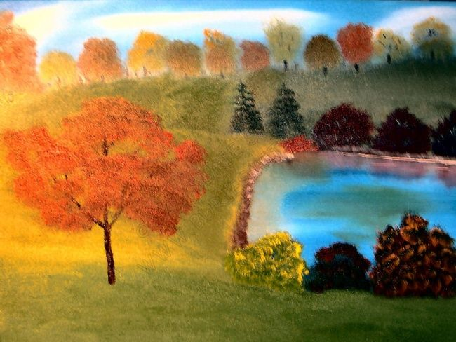 Summer Days - Painting,  16x20 in, ©2006 by Burie Smith -