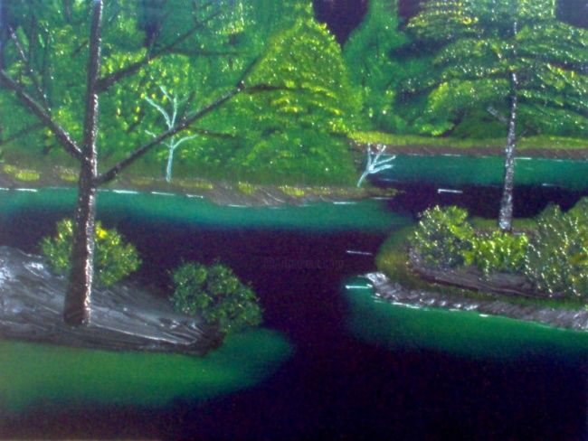 Endless Journey - Painting,  18x24 in, ©2007 by Burie Smith -