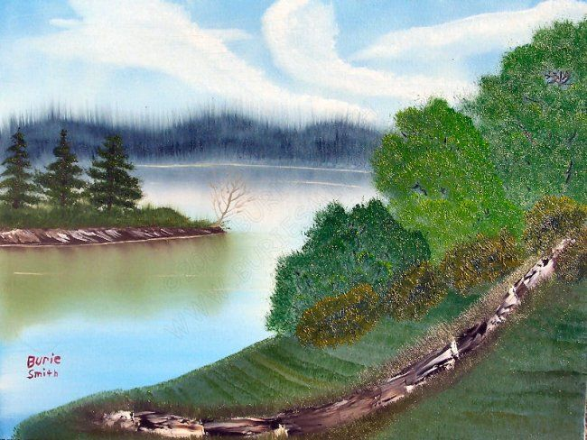 Inlet Kentucky Lake - Painting,  18x24 in, ©2007 by Burie Smith -