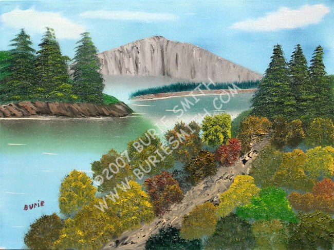 Lakeside Trail - Painting,  18x24 in, ©2007 by Burie Smith -