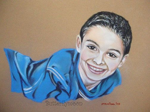 Enfant - Drawing,  9.8x19.7 in, ©2006 by Butterflymoons -