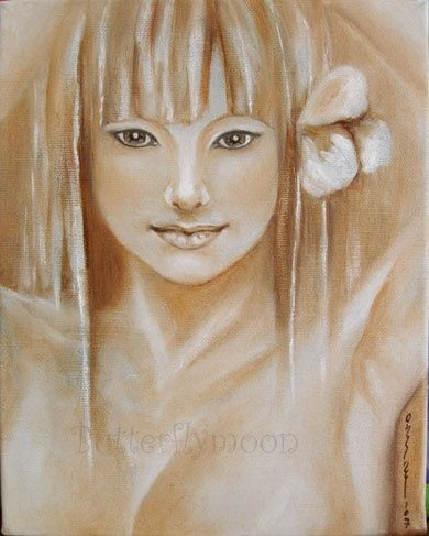 Nu huile sur toile 848 - Painting, ©2007 by Butterflymoons -