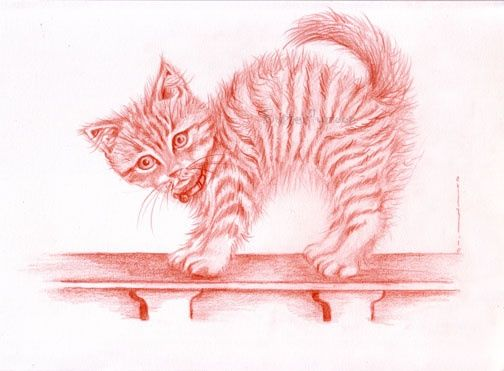 chat - Drawing,  8.3x11 in, ©2010 by Butterflymoons -
