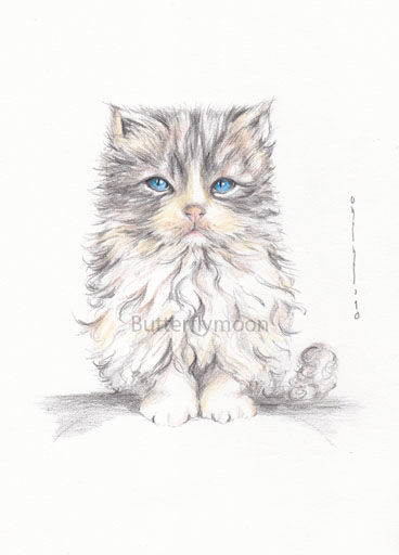 chat 4 - Drawing,  11.4x8.3 in, ©2010 by Butterflymoons -