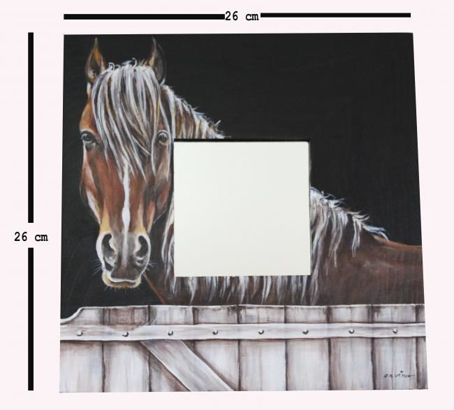 Cheval - Painting,  10.2x10.2 in, ©2011 by Butterflymoons -                                                                                                                          Figurative, figurative-594