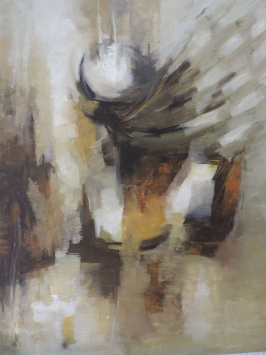 """Painting titled """"Attachment- 03"""" by Bartholameuse Wimalaratne, Original Art, Oil"""