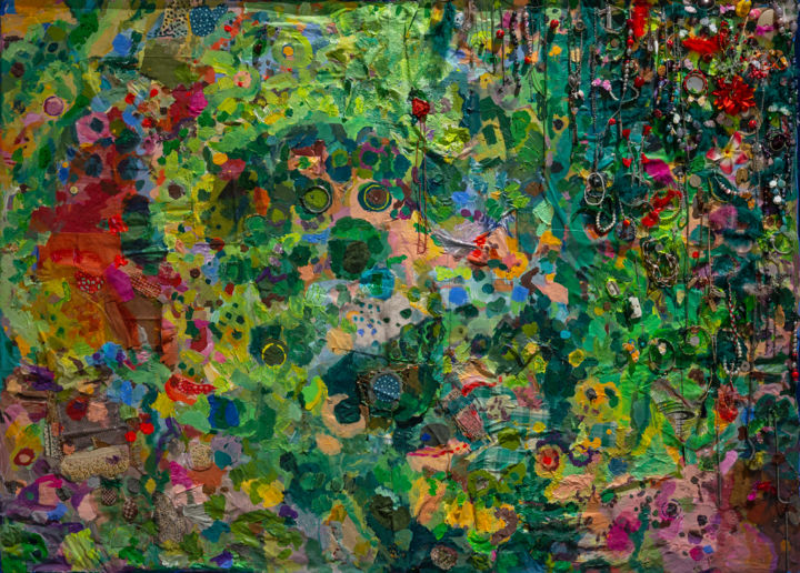 """Painting titled """"Paradise Lost"""" by Győző Byhon, Original Art, Acrylic Mounted on Wood Panel"""