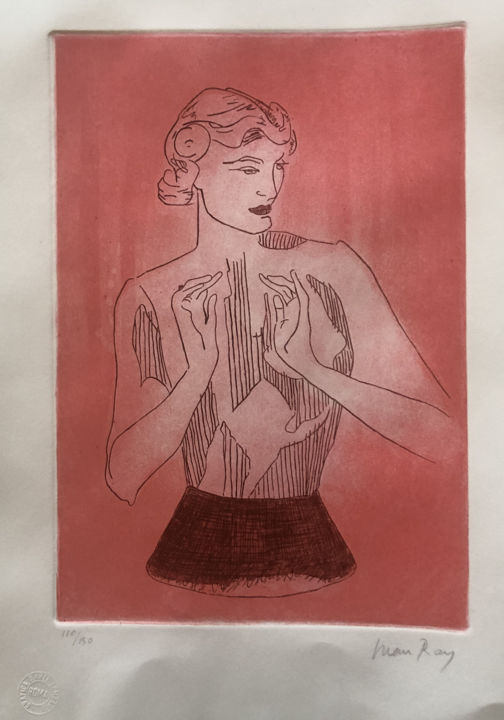 """Printmaking titled """"Man Ray: Le Mannequ…"""" by Chris North, Original Art, Etching"""