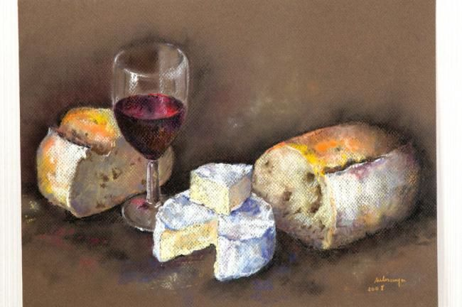 Dessin camembert - Dessin de nature morte ...
