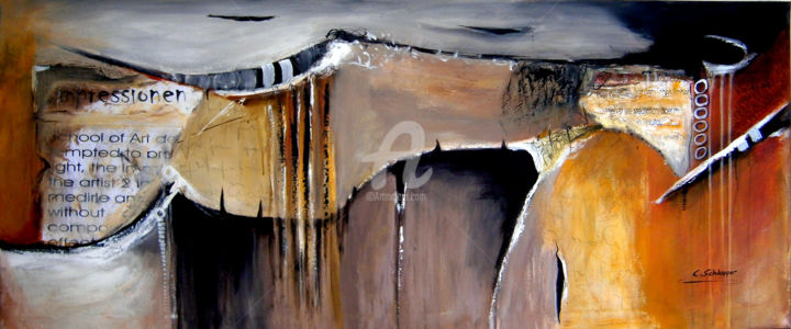 """Painting titled """"Impressionen"""" by Cäcilia Schlapper, Original Art, Acrylic"""