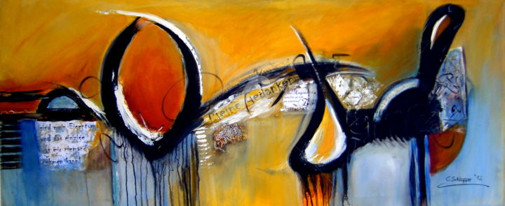 """Painting titled """"in Gedanken.."""" by Cäcilia Schlapper, Original Art, Acrylic"""