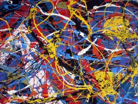 """Painting titled """"Number 41"""" by Steven Caito, Original Art,"""