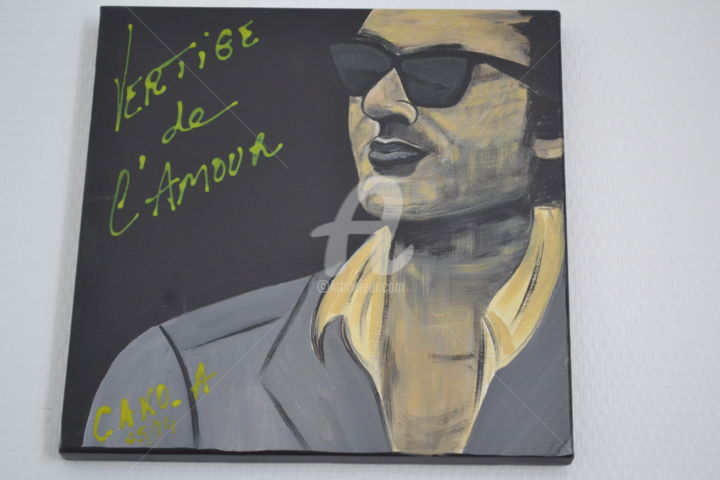 """Painting titled """"BASHUNG"""" by Cako-A, Original Art, Acrylic"""